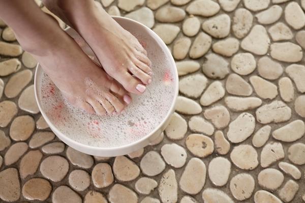 На фото: ванночка для ног
