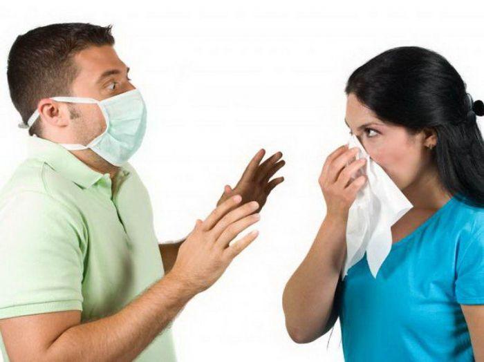 На фото: заразные болезни