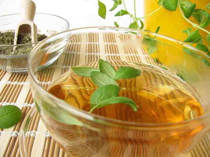 На фото: Мятный чай